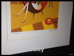 Josh Agle Shag Le Rouge Phone Art Serigraphie Print Limited # 123/200 Tres Rare