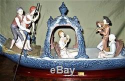 Lladro Vénitienne Seranade # 1433 Glaze Très Rare Édition Limitée De 750 Pièces