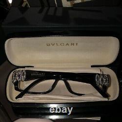 Lunettes Bvlgari Swarovski Crystal Limited Edition 4019-b Noir Très Rare 2075