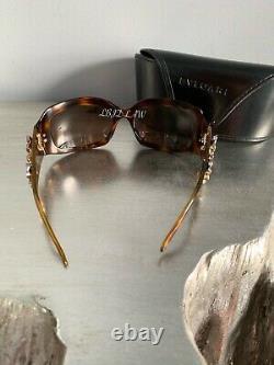 Lunettes De Soleil Bvlgari Swarovski Crystal Limited Edition 856-b Gold Brown Très Rare