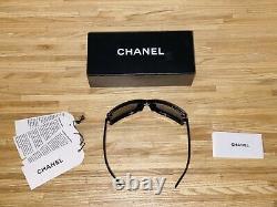 Lunettes De Soleil Chanel Edition Limitée Swarovski Crystal 5065-b Noir Very Rare