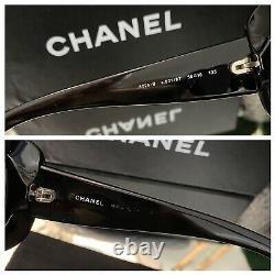 Lunettes De Soleil Chanel Noir 6026-b Edition Limitée Swarovski Crystal Very Rare