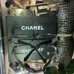 Lunettes De Vue Chanel 3086-b Edition Limitée Swarovski Cristal Noir Très Rare