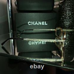 Lunettes De Vue Chanel 3092-b Edition Limitée Swarovski Cristal Noir Très Rare