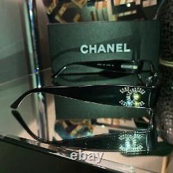 Lunettes De Vue Chanel 3116 Edition Limitée Swarovski Crystal Black Frames Very Rare