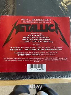 Metallica Edition Limitée Ensemble Boîte En Vinyle 10lp Usine Scellée Très Rare