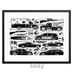 Mike Giant Slammed Limited Edition Print Mint / Sold Out! Très Rare