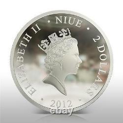 Niue 2012 $2 Icône La Dernière Cène 1 Oz Argent Pièce Very Rare Et Limited