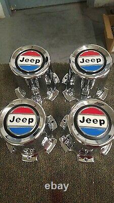Nos Jeep Grand Wagoneer Wheel Center Caps Very Limited -1980-91 Rare