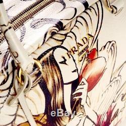 Nouveau Authentique Prada Sac Fée Très Rare Edition Limitée James Jean Art Design