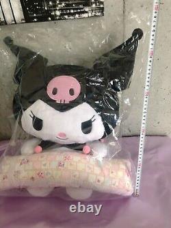 Nouveau Kuromi Plush Poupée Pc Oreiller Coussin Premium Bandai Limited Très Rare Sanrio
