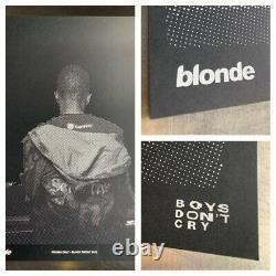 Officiel Frank Ocean Blonde 2016 Black Friday Limitée Affiche Imprimer Très Rare Nouveau