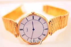 Piaget Limited Very Rare 18k Elegant Piaget Dress Watch 8065 Exc. Condition
