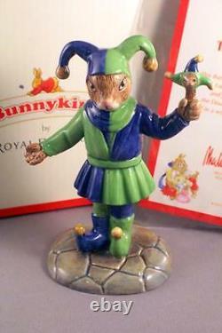Royal Doulton Bunnykins Db517 The Fair Jester Very Rare Limited Edition