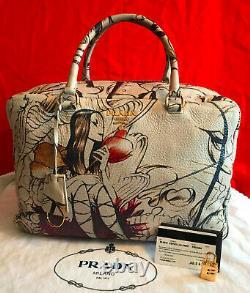 Sac En Cuir Authentique Prada Fairy Bourse Sac Besace Très Rare Limited Edition