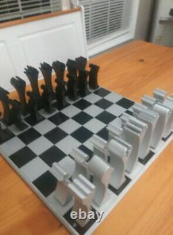 Série Limitée D'échecs En Aluminium, Très Rare, 200-300 Made/work Of Art