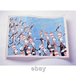 Singing Cats Dr. Seuss Art (ted Geisel) Edition Limitée Très Rare Mint