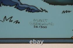 The Simpsons Animation Cel Edition Limitée Treehouse Of Horror Coa Très Rare