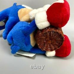 Très Rare 1996 Sonic Le Hedgehog Basket Sonic Plush Poupée Sega 7 Limitée