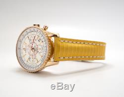Tres Rare Breitling Montbrillant 01 Limited Edition Navitimer En Or 18 Carats Rb0131