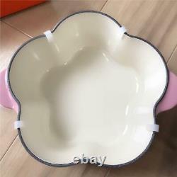 Très Rare Couleur! Le Creuset Fleur Cocot Fleur Berry 2.25usqt Limitée En Provenance Du Japon