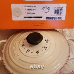 Très Rare! Le Creuset Cocotte Ronde Signature Petit Fruit 240mm Limited Inutilisé