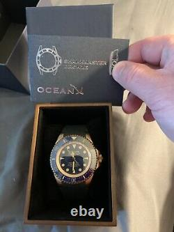 Très Rare Oceanx Sharkmaster Bronze M9 Limited Edition Watch With Box & Paper