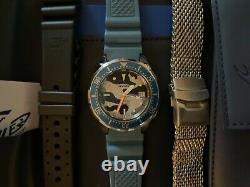 Très Rare Squale 1521 Limited Edition Blue Camo 500m Avec 3 Sangles, Nouvelle Condition