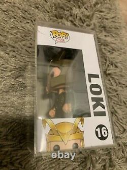 Ultra Rare Funko Pop Sdcc 16 Avengers Loki! Très Limité Avec Cas Dur