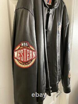 Very Rare Vintage Jeff Hamilton Nba Finals Leather Jacket Limited Edition