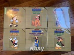 Walt Disney Limited Gold Edition 2 Classiques De Dessin Animé Lot De 6 Neuf Très Rare