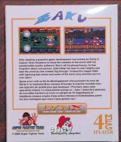 Zaku Atari Lynx Game Flambant Neuf Avec Chariot, Boîte Et Manuel. Très Rare Était Limité, Maintenant