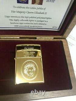 Zippo Édition Limitée Du Jubilé D'or 2002 Tout Neuf Très Rare
