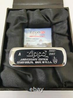 Zippo Swarovski 75e Édition Limitée Anniversaire Lighter 2007 Très Rare Bnib